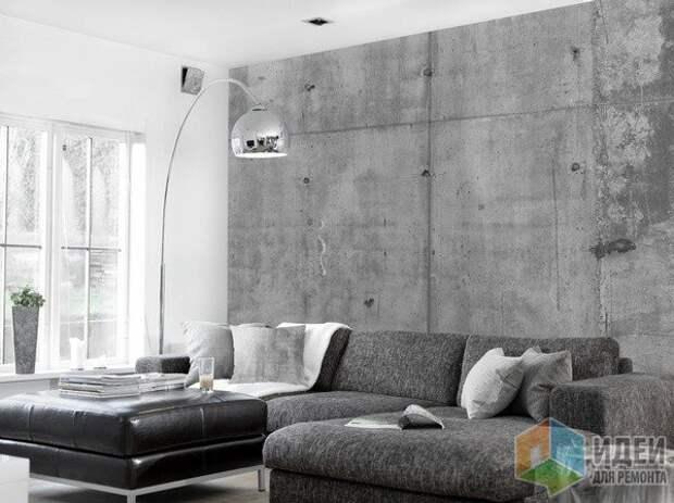 Виниловый обои с фактурой бетона. ConcreteWall, Tom Haga