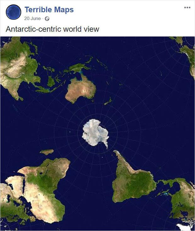 10 ужасных и смешных карт мира, которые просто надо увидеть своими глазами