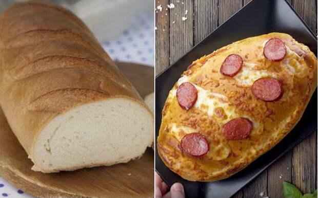 Как обычный батон превратить в аппетитную пиццу: Простейшее блюдо на любой вкус и кошелек