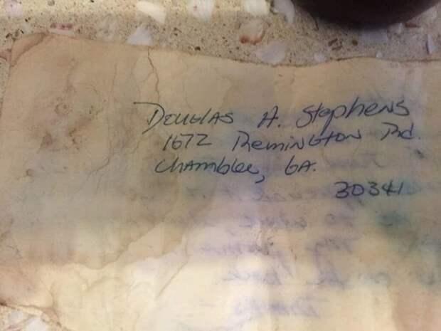 Послание в бутылке нашло адресата спустя 36 лет Райан Берчетт, адресат, бутылка, письмо, послание, рыбак