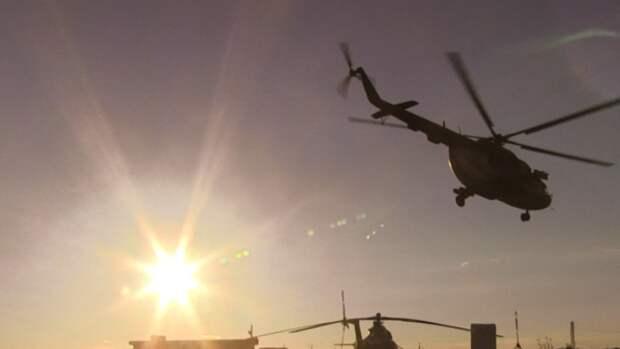 Рухнувший на дороге Гатчина — Пушкин вертолет мог принадлежать Росгвардии