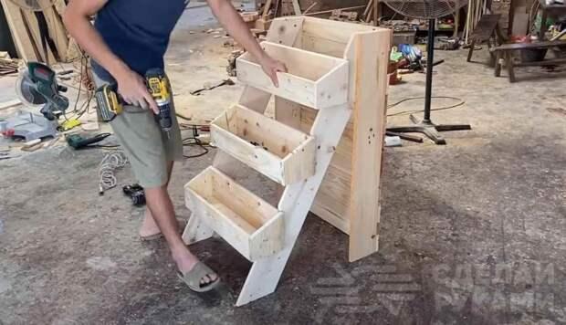 Как сделать вертикальные грядки-ступеньки для дачи