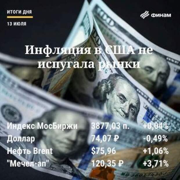 Итоги вторника, 13 июля: Российские индексы смогли закрыть день в плюсе