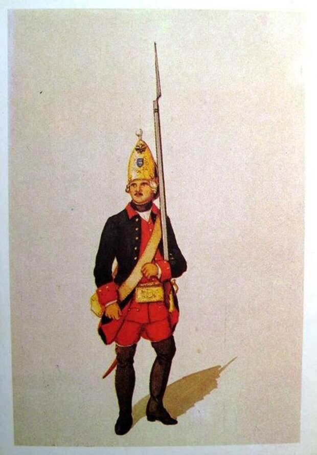 Форма русской армии 1756 - 1796 гг.