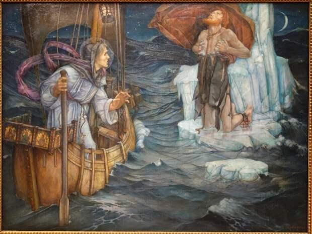 В поисках Земли Обетованной: 7-летняя одиссея святого Брендана в кожаной лодке