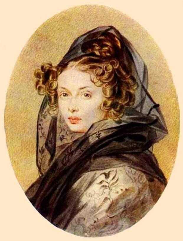 П. Ф. Соколов. Портрет Александры Григорьевны Муравьевой, 1825. / Фото: www.liveinternet.ru