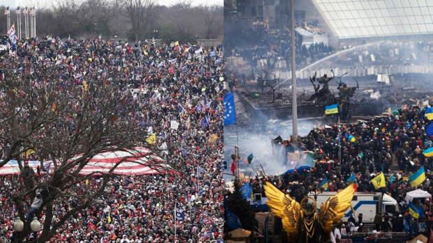 На Украине раскритиковали штурм Капитолия в США за непрофессионализм