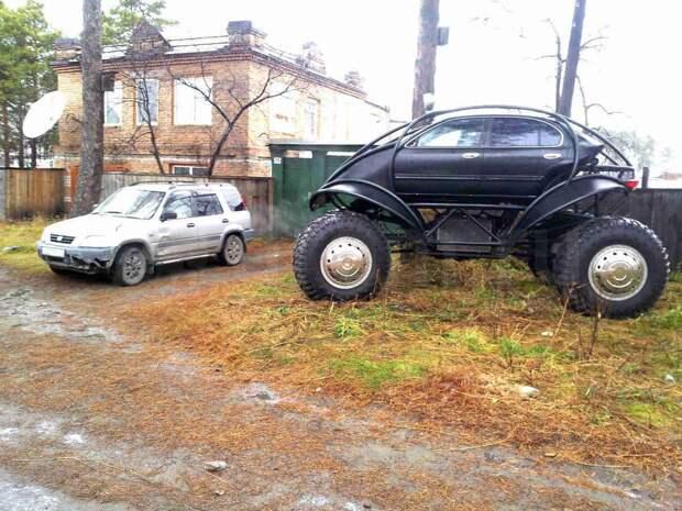 Для суровой русской зимы креатив, машина