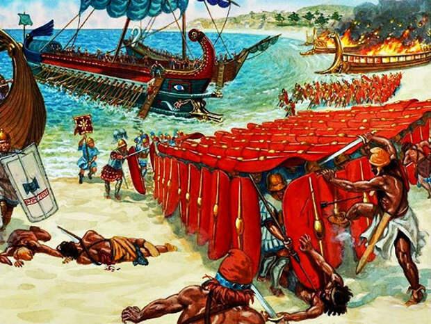 Дж. Рава. Помпей Великий побеждает киликийцев