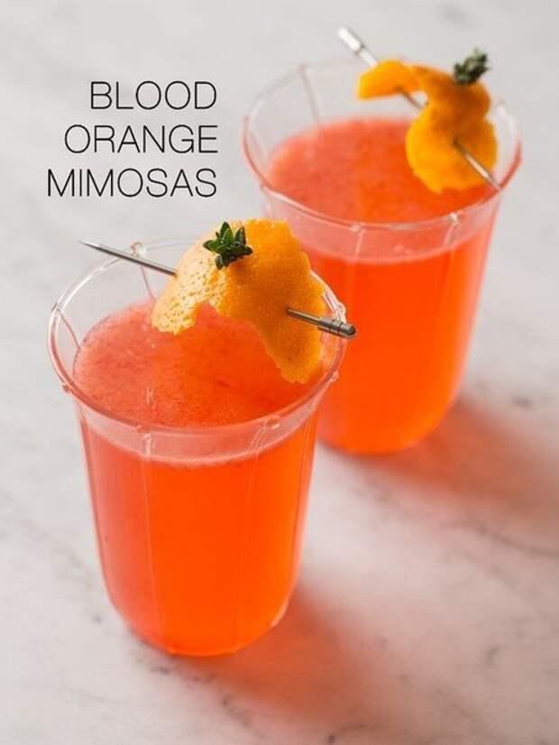 Мимоза с красным апельсином