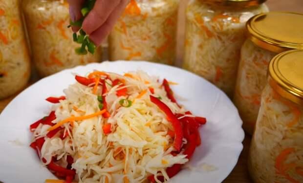 Быстрая маринованная капуста. Самый вкусный салат без заморочек