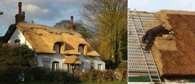 Изготовление соломенной крыши - дело очень кропотливое. /Фото:appleby-lincs.co.uk, trasyy.livejournal.com