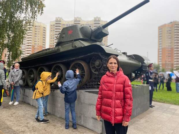 В Некрасовке появился свой Сквер Победы, а в нем легендарный Т-34