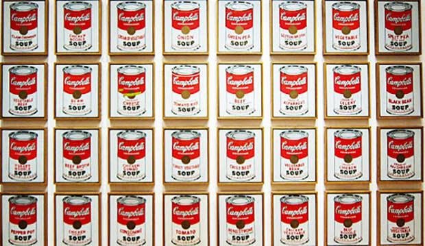 Почему 32 картины Энди Уорхола, на которых были нарисованы только банки с супом, стали арт-сенсацией