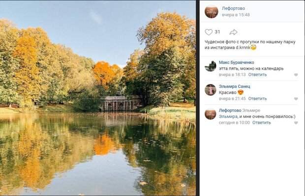 Фото дня: Лефортовский грот в золоте осени