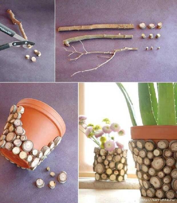 Идеи декорирования и винтажный декупаж на цветочных горшках (31) (611x700, 288Kb)