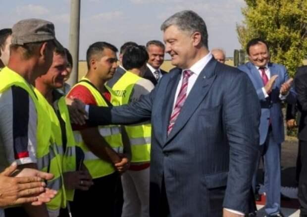 Открытие дорожного знака в ответ на открытие Крымского моста (ВИДЕО)