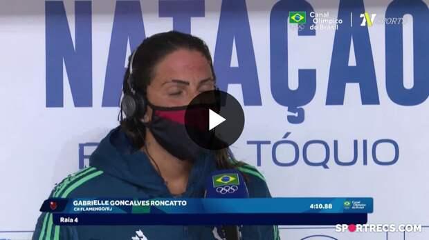 Gabrielle Roncatto fala sobre não ter conseguido o índice olímpico nos 400m Livre Feminino e Ana Marcela Cunha recebe o passaporte olímpico - Dia 2 do Pré-Olímpico de Natação (20/04/2021)