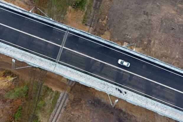 Открыли новый путепровод на юго-востоке Москвы к Печатникам
