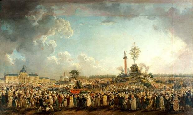 Пьер-Антуан Демаши. Праздник Верховного Существа 8 июня 1794 г. на Марсовом поле в Париже. 1794 г