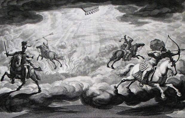 Четыре всадника Апокалипсиса и подробности их гардероба и амуниции