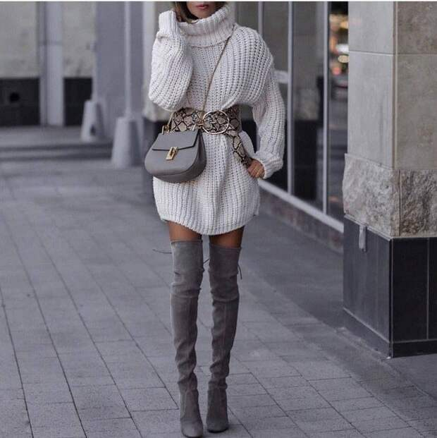 Модные вязаные платья: с чем носить зимой 2020-2021