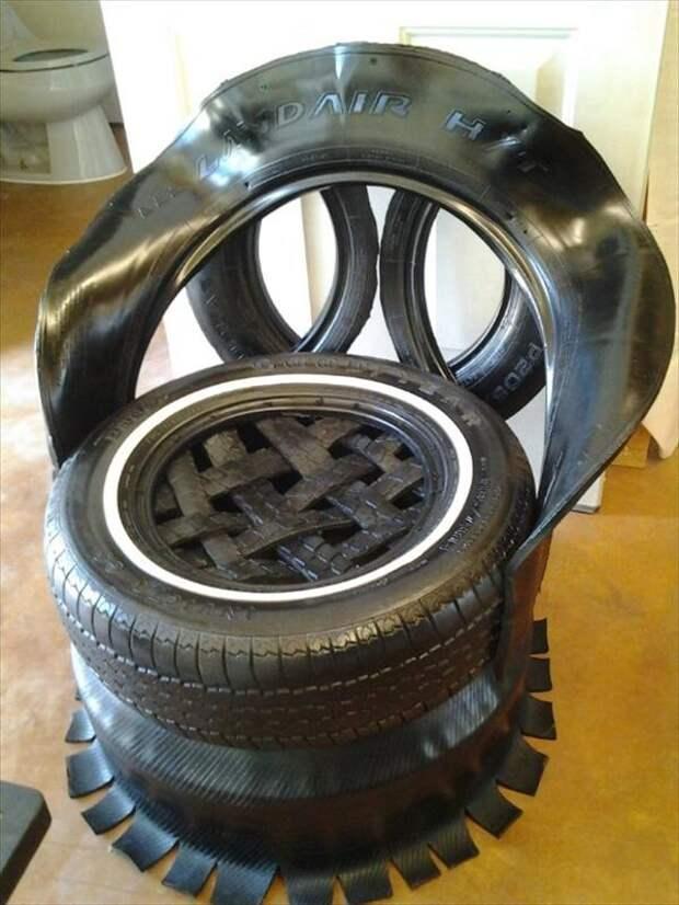 15 не тривиальных и простых способов утилизации старых шин