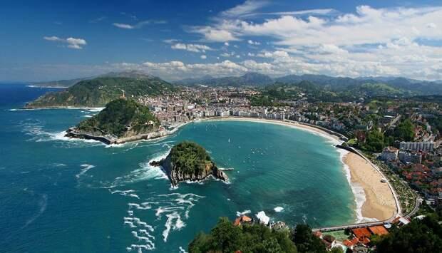 Пляж Ла-Конча (Playa de la Concha ) в Сан-Себастьяне Страна Басков - фото,  описание, адрес с картой, отзывы, достопримечательноcти Испании