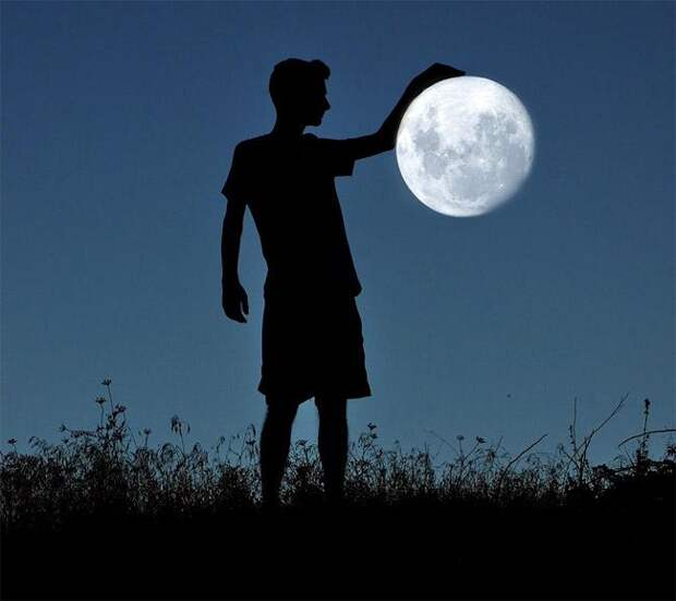 Как сфотографироваться с Луной - коллекция идей