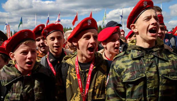 В день 75‑летия Победы подмосковная «Юнармия» приняла в свои ряды 75 юных патриотов