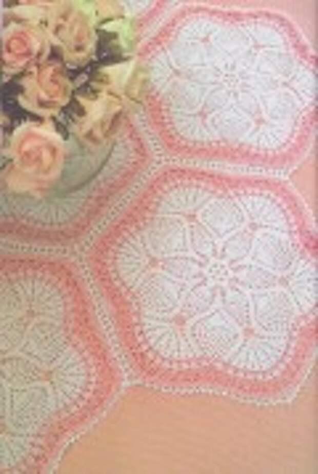 Новые красивые схемы для вязания крючком :салфеток,скатертей,ковриков и подушек