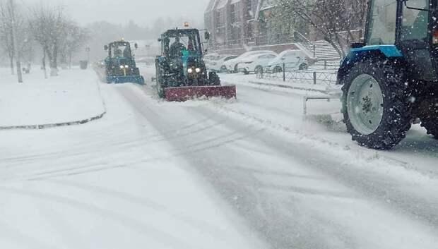 Свыше 480 км муниципальных дорог очистили от снега в Подольске