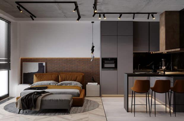 Квартира-студия. 12 советов по организации пространства.