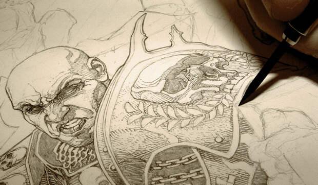 Художник-комиксист Энди Брейс иего мрачные концепт арты ииллюстрации