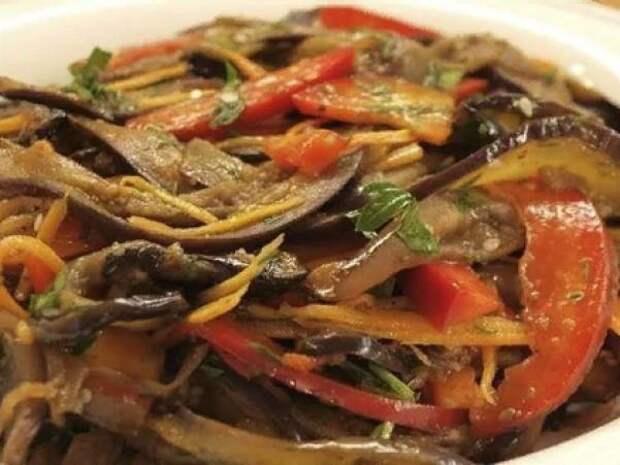 Вкуснейшая закуска: баклажаны по-корейски