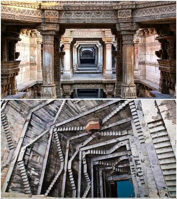 Многие колодцы и подземные «перевернутые храмы» имеют особую притягательную силу (Индия).