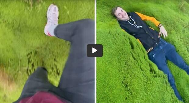 Wading Through 20-Inch Deep Moss Is Like Walking on a Pillow of Green Snow