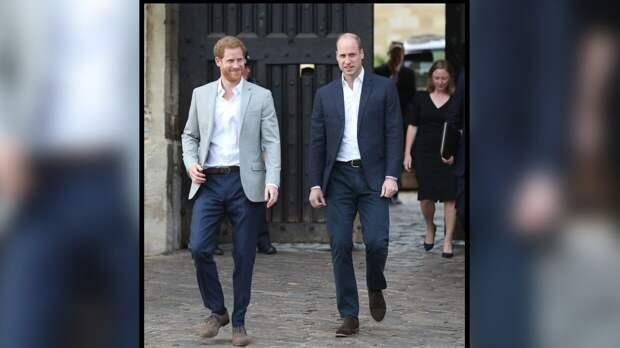 Внуки принца Филиппа Гарри и Уильям сели напротив друг друга на похоронах