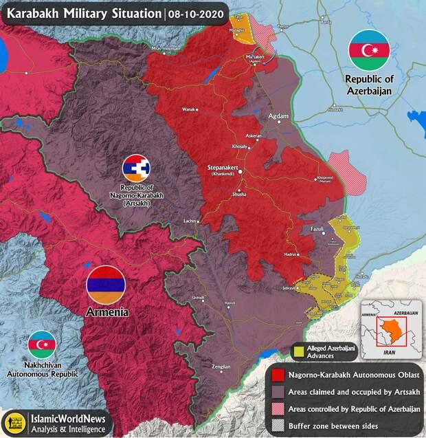 Путин предлагает перемирие в Карабахе