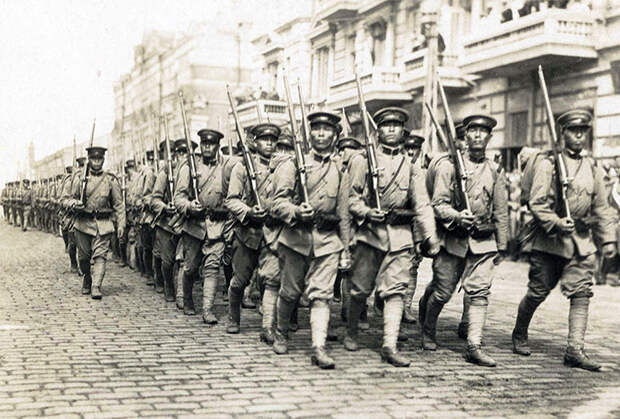 Японские войска во Владивостоке, 1918 год