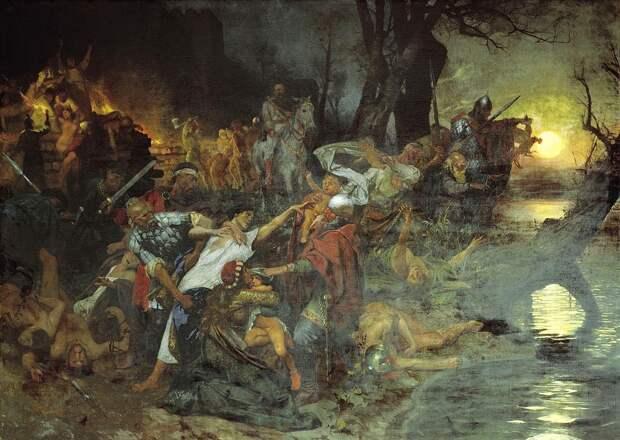 Funeral feast of russians in 971 by Siemiradzki.jpg