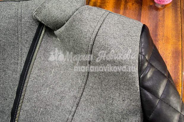 Втаченный рукав в куртке