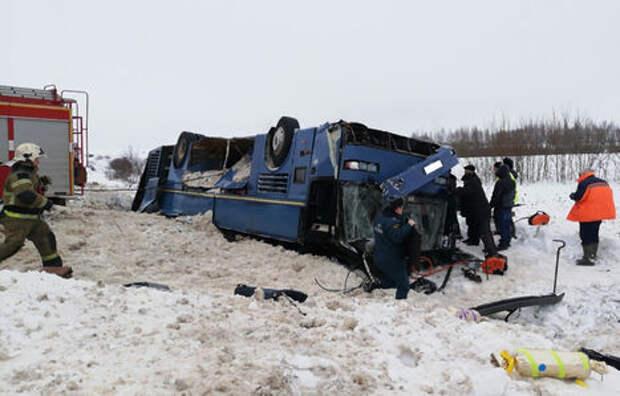 Под Калугой перевернулся автобус с детьми. Есть жертвы