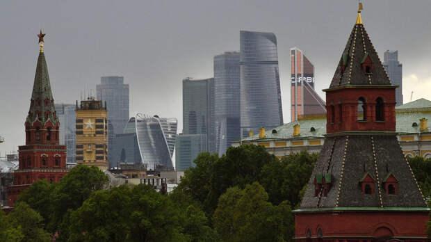 Башни Московского Кремля и московский международный деловой центр Москва-Сити  - РИА Новости, 1920, 16.10.2020