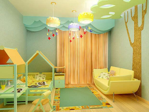 Проект детской: 15 комнат в деталях, дизайнерские проекты