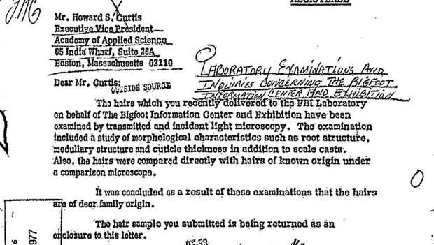 ФБР рассекретило данные по Снежному Человеку