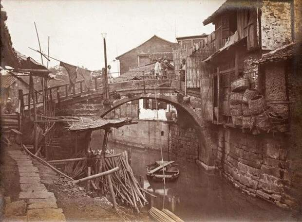 В Старом городе Шанхая около 1900 года