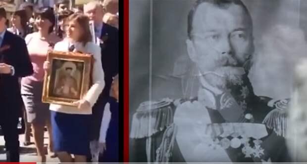 Феминистки облили менструальной кровью портрет Николая II во имя «Матильды» (видео)