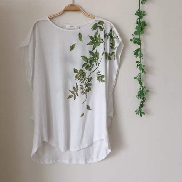 Предметы одежды, расписанные вручную, будут самыми стильными в вашем шкафу