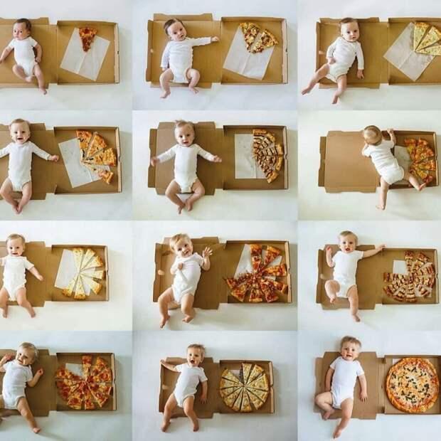 Ребенок любителей пиццы